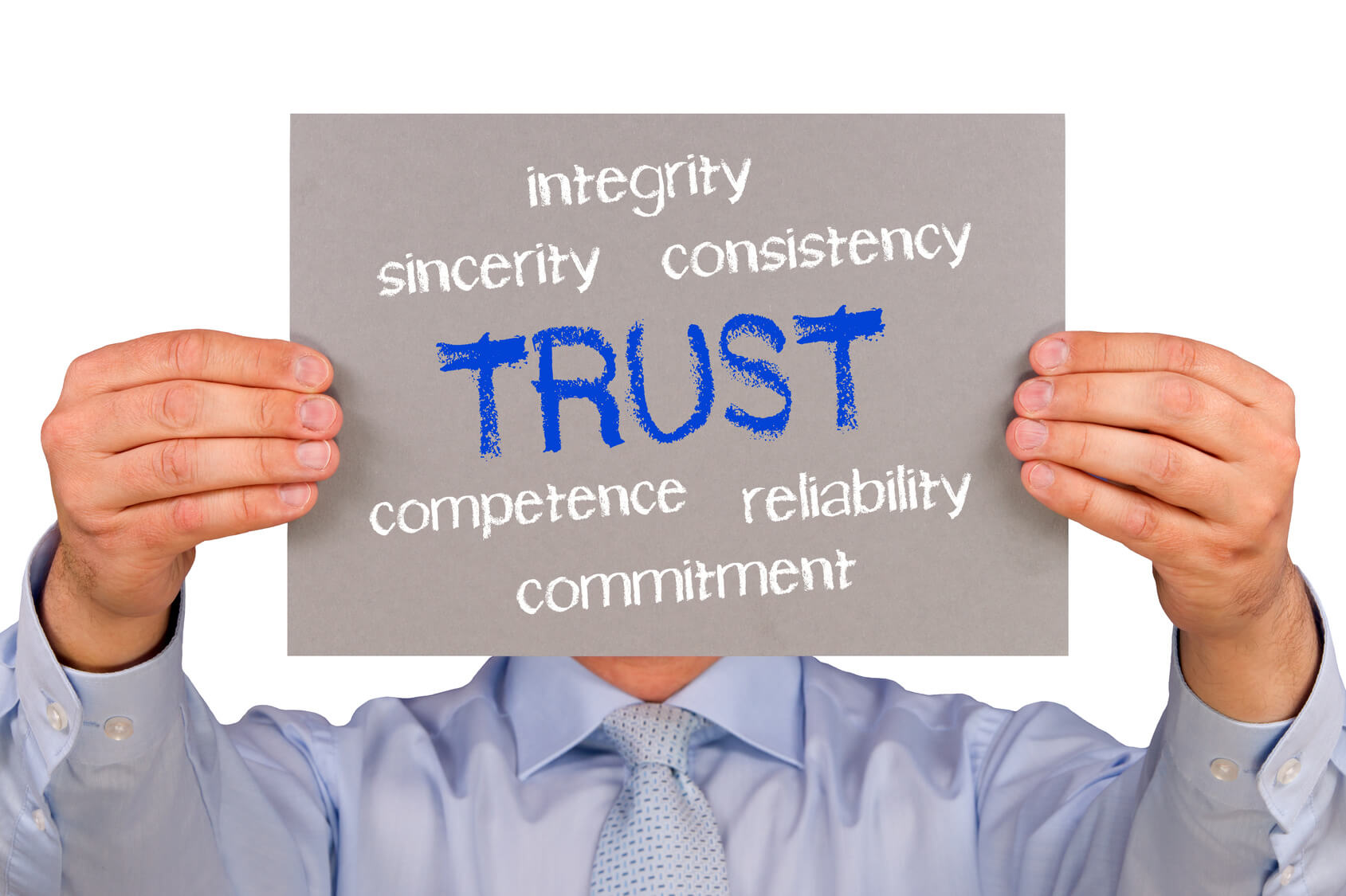 customer trust in salesperson By marjorie adams organizations with great customer relationships are able to grow their businesses without gimmicks, fee cuts or special treatment you have to be good at what you do, of course, but having a truly successful business is based on one simple concept: trust with trust, you'll have.
